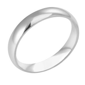 Other - Polished Stainless Steel 4mm Ring/Band Size: 6
